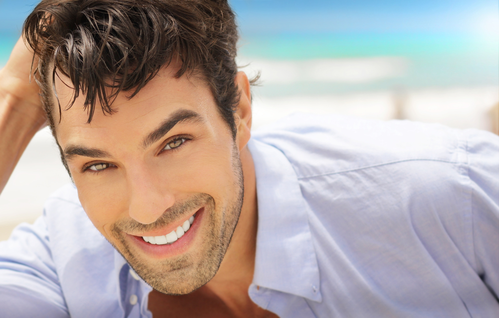 man with dental veneers