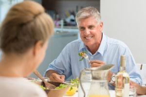 implant dentures on man
